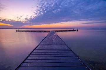 Lever du soleil au lac de Veere sur Marcel Klootwijk