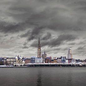 Antwerpener Scheldekais Skyline , Panorama von Maarten Visser