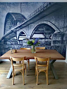 Klantfoto: IJsselbrug bij Zwolle. van PictureWork - Digital artist