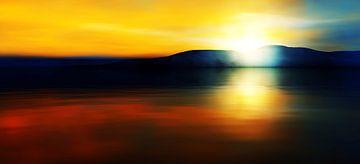 Zonsondergang kleuren 2 van Angel Estevez