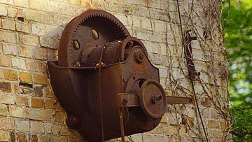 Ruïne van het pakhuis van het molencomplex Böllberg in Halle in Duitsland van Babetts Bildergalerie
