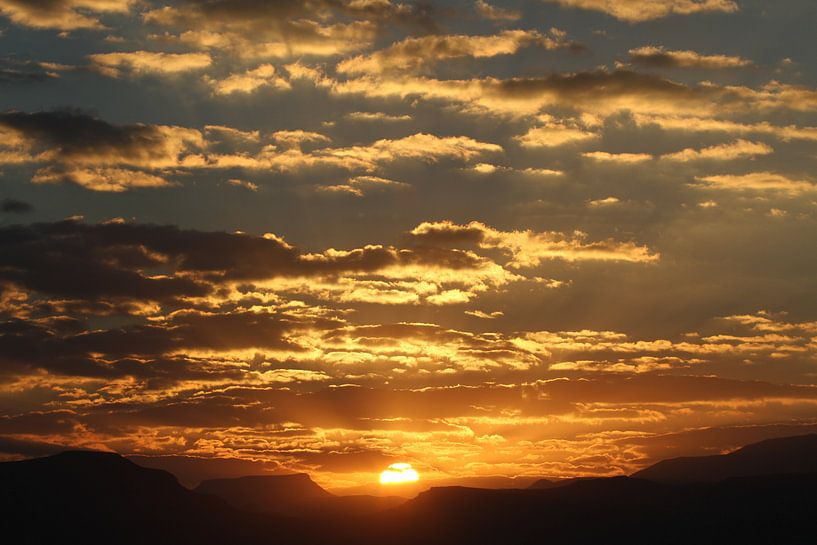 Zuid Afrikaanse zonsopkomst van Jeroen Meeuwsen