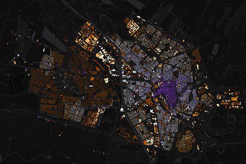 Kaart van Utrecht abstract van