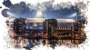 "Feyenoord ART Rotterdam Stadion ""De Kuip"" Luchtfoto"