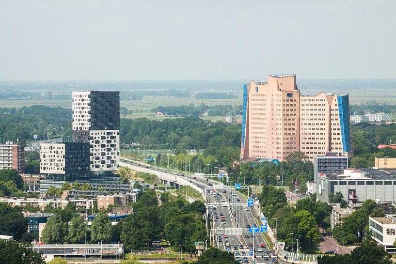 Uitzicht op Groningen (Gasunie & La Liberté) van Frenk Volt
