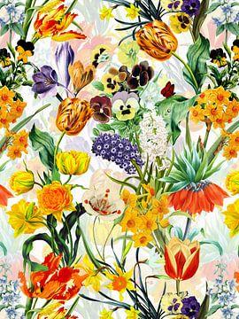 Vintage Frühlings Wiese von Uta Naumann