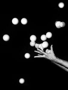 veel ballen in de lucht willen houden