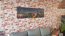 Klantfoto: De skyline van Rotterdam van MS Fotografie | Marc van der Stelt, op canvas