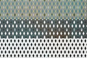 Grafisch patroon, ruit van Rietje Bulthuis
