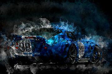 Shelby Daytona Coupé 's nachts van Theodor Decker