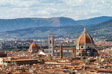 Florence skyline kathedraal von Dennis van de Water