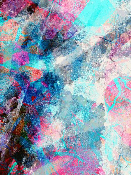 Modern, Abstract Digitaal Kunstwerk – Chasing Shadows To The End (Rechts) van Art By Dominic