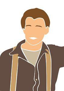 Der junge Leonardo diCaprio von Eline Willekens