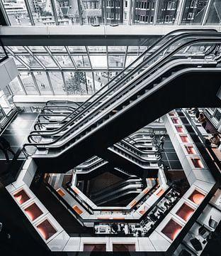 Bibliothek Rotterdam Rolltreppe von vedar cvetanovic