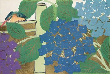 Der Eisvogel hier, zwischen den Blumen, möchte lieber nicht erkannt werden. von Rudy en Gisela Schlechter