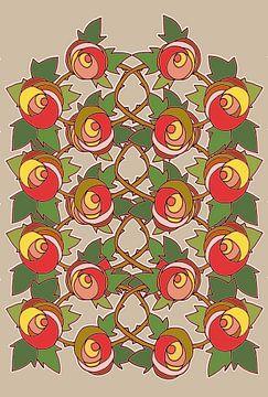 Les Roses dessin 3 sur