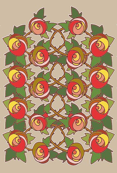 Les Roses dessin 3