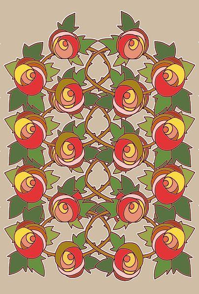 Les Roses dessin 3 sur MY ARTIE WALL