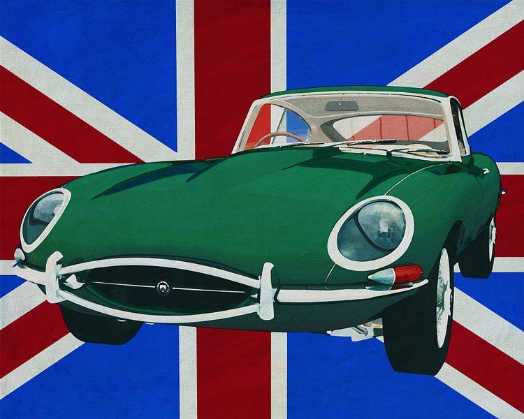 Jaguar E-Type 1960 voor de Union Jack van Jan Keteleer