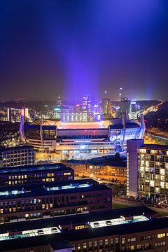Philips Stadion tijdens GLOW 2020, Connecting the Dots van Mitchell van Eijk