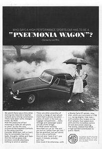 Vintage advertentie 1965 MG van