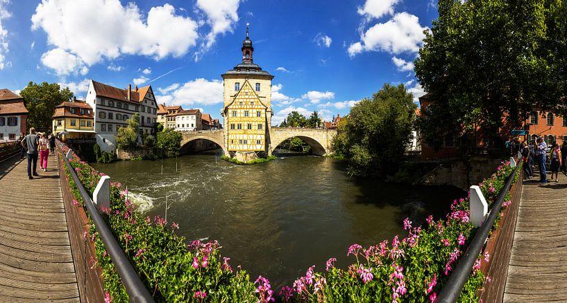 Bamberg - Panorama de l'ancien hôtel de ville sur Frank Herrmann