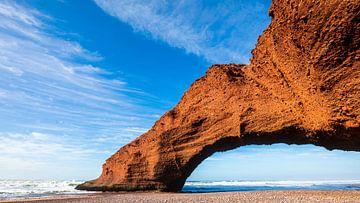 Rotsboog Legzira-strand, Marokko van videomundum
