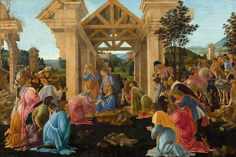 Sandro Botticelli - De aanbidding van de Koningen van 1000 Schilderijen