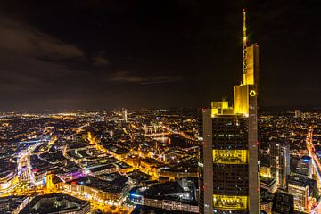 Skyline van Frankfurt van Bart Sallé