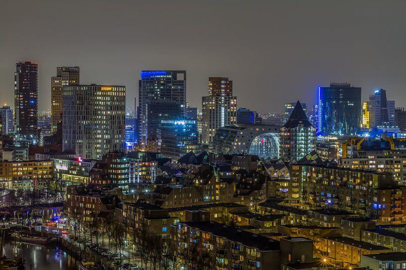 Skyline van Rotterdam van MS Fotografie | Marc van der Stelt