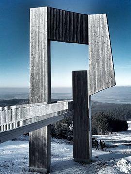 Erbeskopf im Winter von Michael Ladenthin