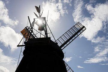 Windmolen in zonlicht van Christoph Schaible