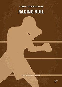 No174 My Raging Bull minimal movie poster van Chungkong Art