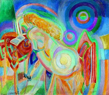Robert Delaunay, Lesende nackte Frau, 1920 von Atelier Liesjes