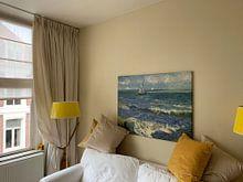 Photo de nos clients: Vincent van Gogh. The Sea at Les Saintes-Maries-de-la-Mer, sur toile