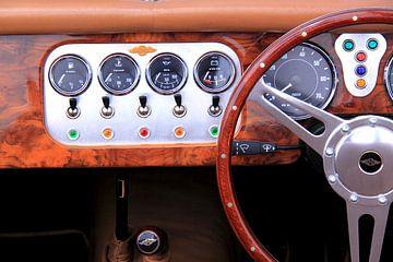 Morgan oldtimer auto interieur dashbord van Bobsphotography