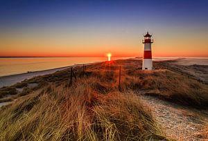Sunrise at the Lighthouse List Ost on Sylt