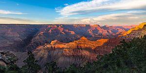 Geweldige zonsondergang Grand Canyon -panorama