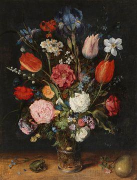 Blumen in einem Glas, Jan Brueghel der Ältere