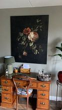 Klantfoto: Stilleven met rozen, Elias van den Broeck, op canvas