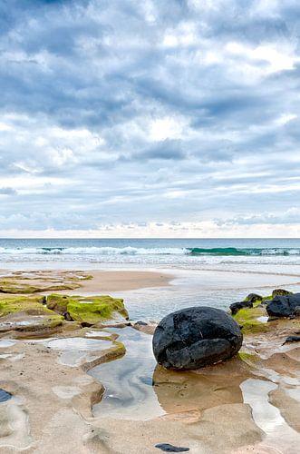 Rocks on Papagayo beach, Lanzarote island, Spain.