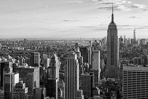 Uitzicht van Manhattan in zwart en wit