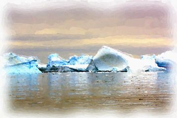 Antarctica landschap van Maurice Dawson