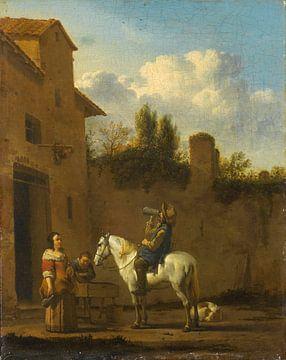 Trompette à boire à cheval, Karel du Jardin sur