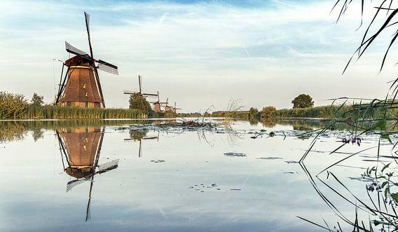 Kinderdijk Nederland schilderachtig van Rob van der Teen
