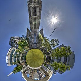 Bolpanorama Laurenskerk Rotterdam van Frans Blok