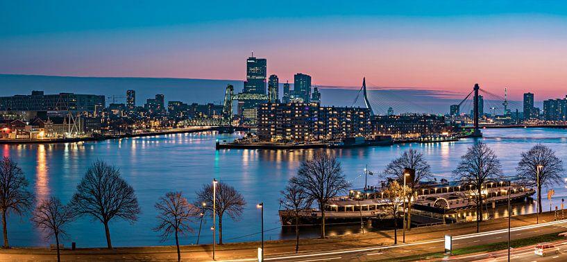 Skyline Rotterdam at Sunset van Midi010 Fotografie