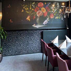 Kundenfoto: Panorama Still Königliche Blume Stillleben von Sander Van Laar, auf nahtlose tapete