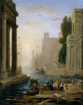 Claude Lorrain. Inscheping van St. Paula van 1000 Schilderijen