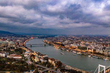 Budapest en de Donau, Drone perspectief van John Ozguc